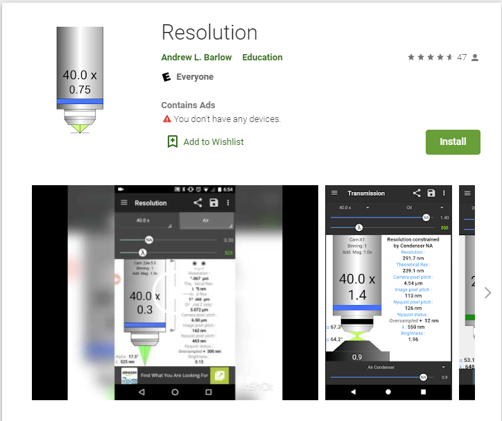 Resolution app picture Google